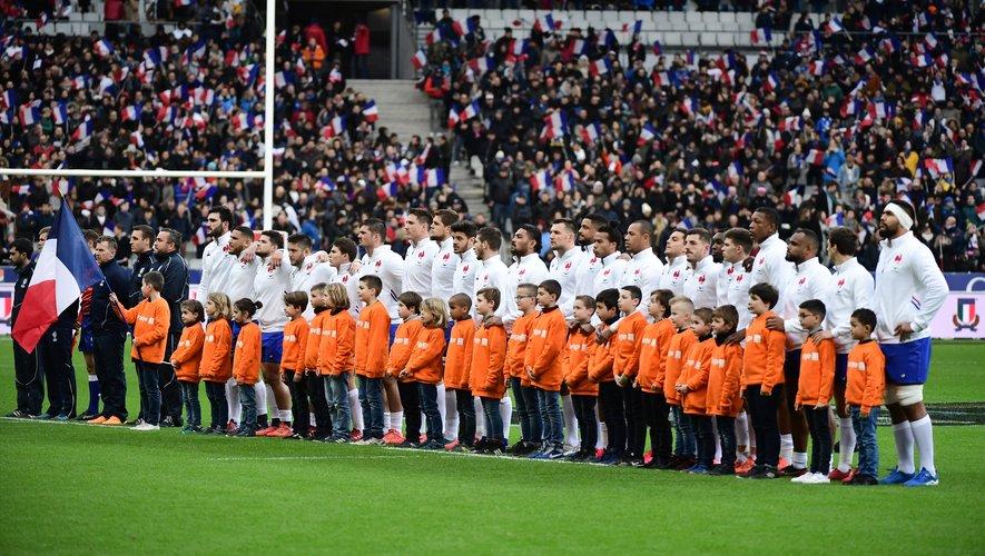 Le XV de France face à l'Italie, lors du Tournoi des 6 Nations 2020.
