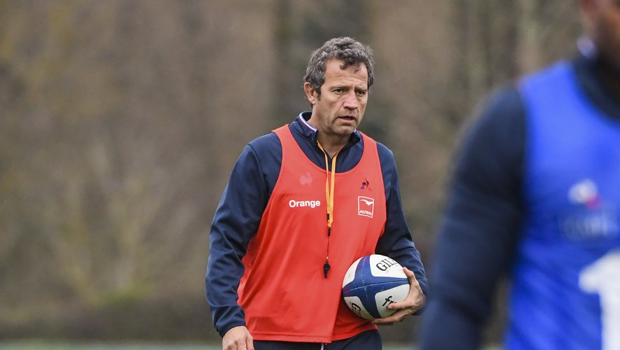 Head coach Fabien GALTHIE during the French Rugby Team training session at Centre national de rugby on March 4, 2020 in Marcoussis, France. (Photo by Aude Alcover/Icon Sport) - Fabien GALTHIE - Marcoussis (France)