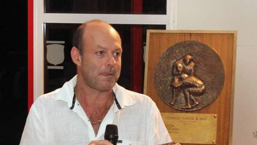 Nicolas Fauré de Villechanche-de-Lauragais, un président inquiet.  Photo DR