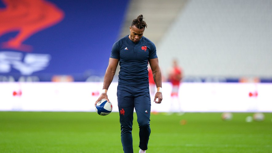 Teddy THOMAS of France during the test match between France and Wales at Stade de France on October 24, 2020 in Paris, France. (Photo by Sandra Ruhaut/Icon Sport) - Teddy THOMAS - Stade de France - Paris (France)