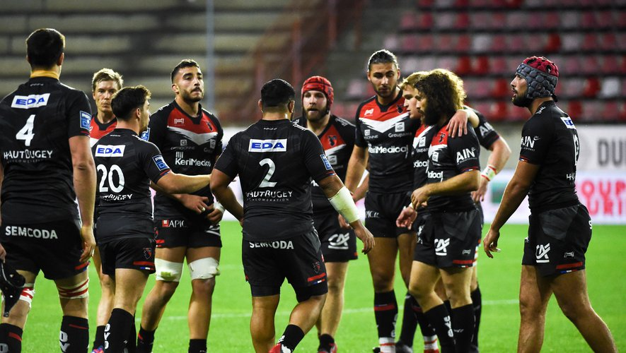 Team of Oyonnax   during the Pro D2 match between Beziers and Oyonnax at Stade de la Mediterranée on October 29, 2020 in Beziers, France. (Photo by Alexandre Dimou/Icon Sport) - Stade de la Mediterranee - Béziers (France)