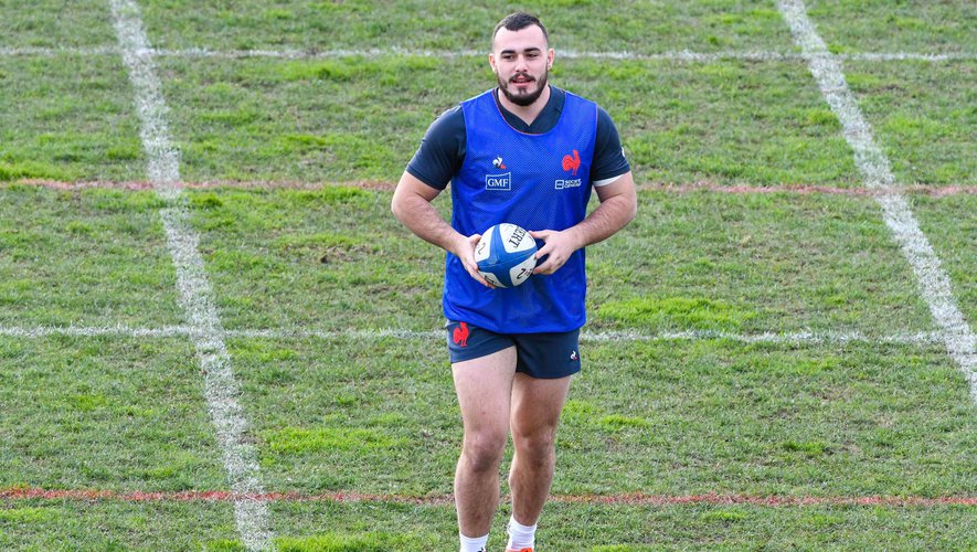 Jean Baptiste GROS of France during the training session of Men's French Rugby Team on January 22, 2020 in Nice, France. (Photo by Pascal Della Zuana/Icon Sport) - Jean-Baptiste GROS - Nice (France)