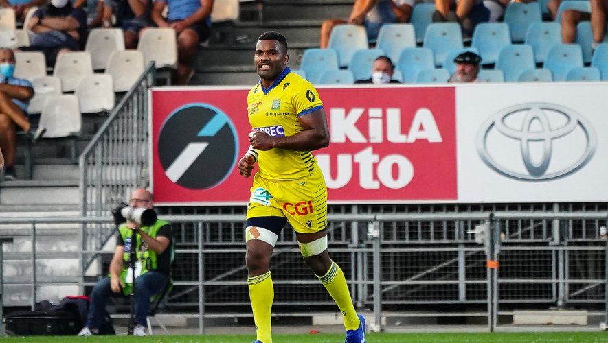Tavite VEREDAMU of ASM Clermont during the Top 14 match between Bayonne and Clermont on September 12, 2020 in Bayonne, France. (Photo by Pierre Costabadie/Icon Sport) - Tavite VEREDAMU - Stade Jean Dauger - Bayonne (France)
