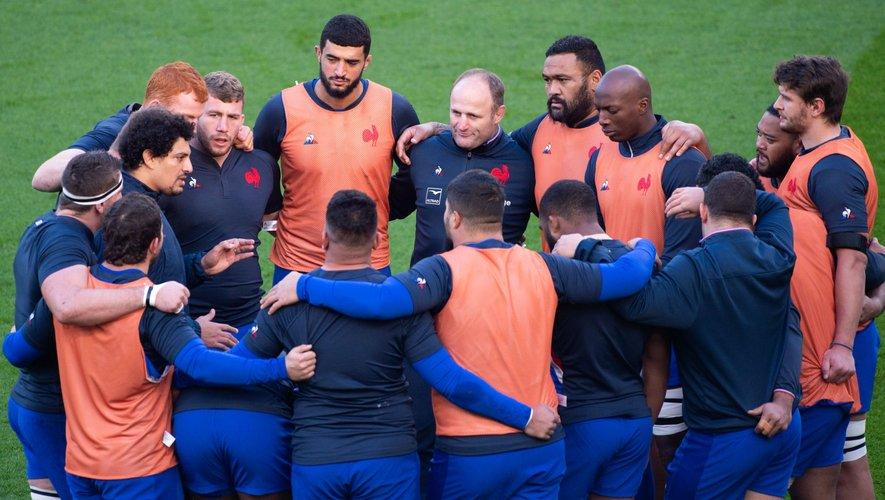 Le groupe France avant la finale face aux Anglais.