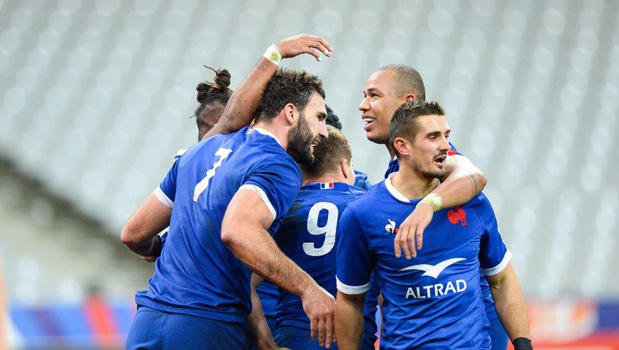 Les Bleus de Charles Ollivon, Gaël Fickcou et Thomas Ramos affronteront-ils les All Blacks en ouverture du Mondial 2023 ? Réponse au mois de février… Photo Icon Sport
