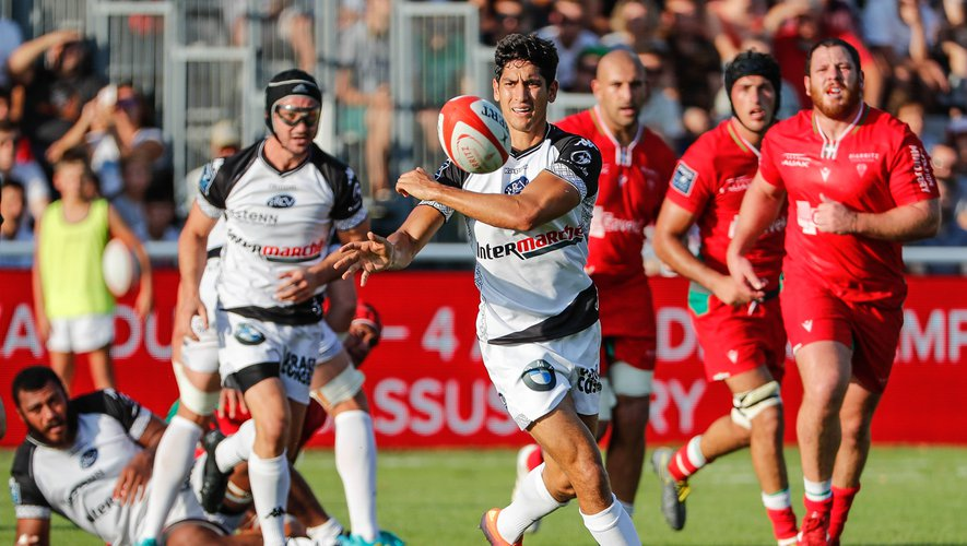 Christopher Hilsenbeck of Vannes during the Pro D2 Rugby match between Biarritz and Vannes, on August 30th, 2019. Photo : JF Sanchez / Icon Sport
