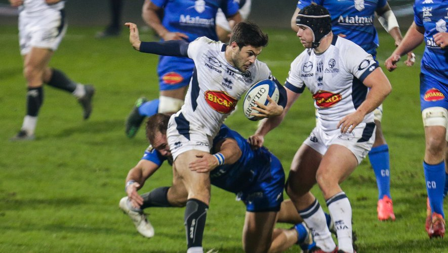 Raphael LAGARDE of Agen during the Top 14 match between Castres and Agen on January 9, 2021 in Castres, France. (Photo by Laurent Frezouls/Icon Sport) - Stade Pierre Fabre - Castres (France)