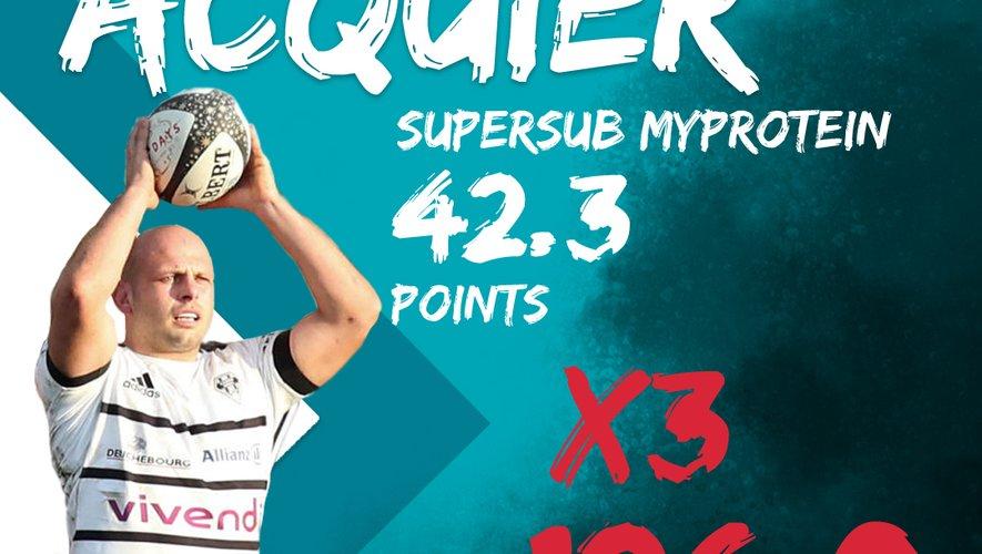 Thomas Acquier est le Supersub Myprotein de cette 14eme journée / Midi Olympique