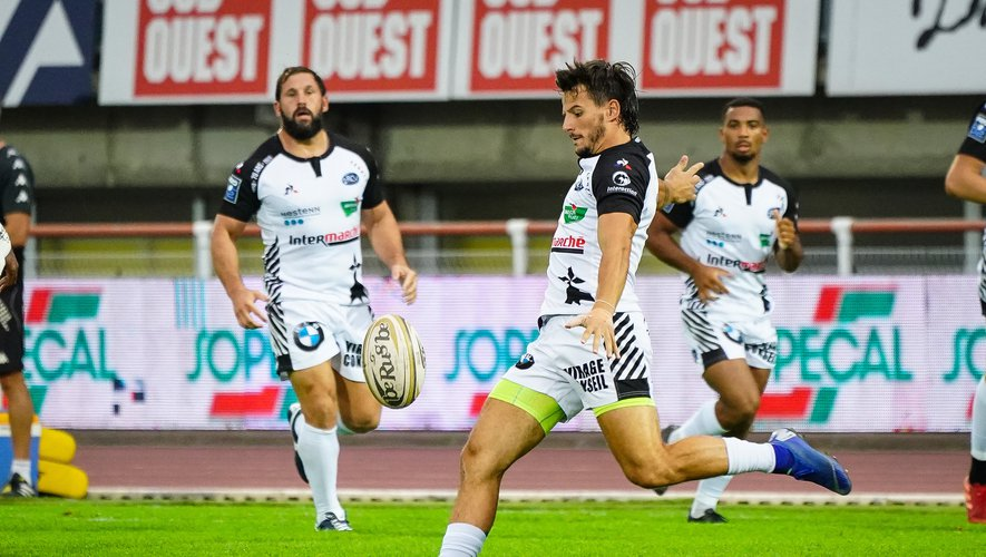 Pierre POPELIN of RC Vannes during the Pro D2 match between Mont Marsan and Vannes on September 18, 2020 in Mont-de-Marsan, France. (Photo by Pierre Costabadie/Icon Sport) - Pierre POPELIN - Stade Guy Boniface - Mont-de-Marsan (France)