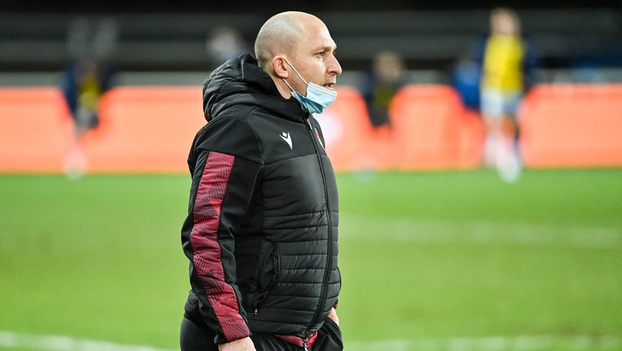 Pierre MIGNONI head coach of Lyon  during the Top 14 match between Montpellier and Lyon at GGL Stadium on January 23, 2021 in Montpellier, France. (Photo by Alexandre Dimou/Icon Sport) - Pierre MIGNONI - Altrad Stadium - Montpellier (France)