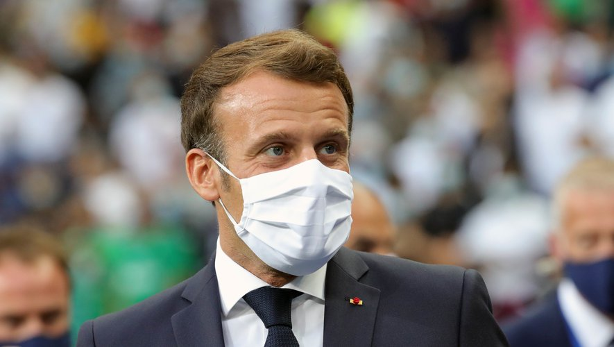 French Republic President Emmanuel MACRON before the French Cup Final match between Paris Saint Germain and Saint Etienne at Stade de France on July 24, 2020 in Paris, France.   Photo by Icon Sport  - Emmanuel MACRON - Stade de France - Paris (France)