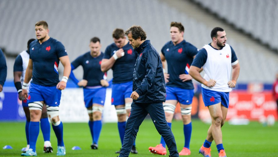 France head coach Fabien GALTHIE before the test match between France and Wales at Stade de France on October 24, 2020 in Paris, France. (Photo by Sandra Ruhaut/Icon Sport) - Fabien GALTHIE - Stade de France - Paris (France)