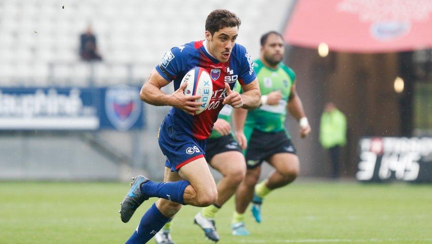 Ce week-end verra le retour de Lucas Dupont dans les rangs isérois au poste d'ailier. Photo Icon Sport