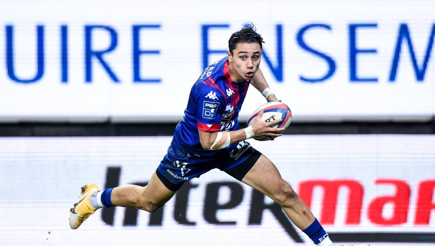 Ange CAPUOZZO of Grenoble during the Pro D2 match between Grenoble and Beziers on January 29, 2021 in Grenoble, France. (Photo by Hugo Pfeiffer/Icon Sport) - Ange CAPUOZZO - Stade des Alpes - Grenoble (France)