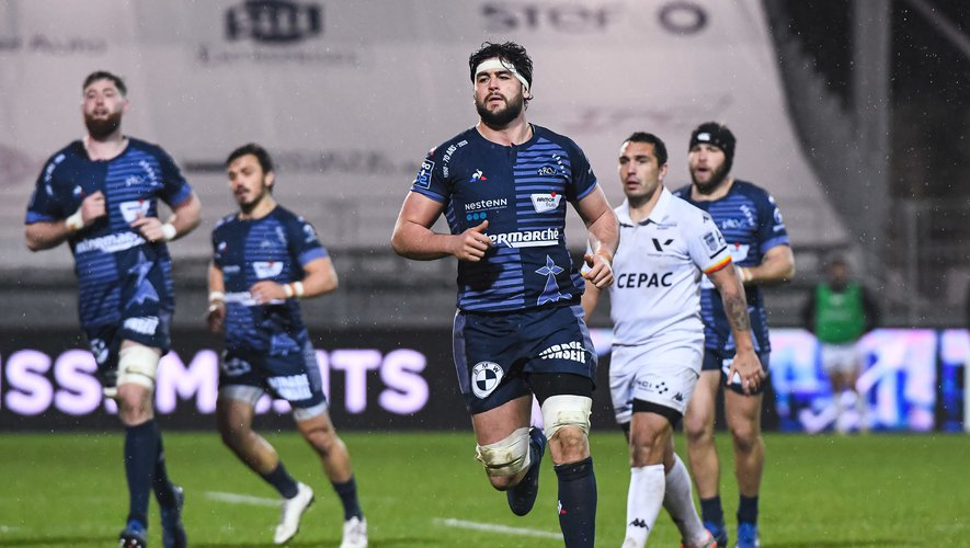 Remi PICQUETTE of Vannes during the French Pro D2 rugby match between Vannes and Provence at Stade de la Rabine on January 29, 2021 in Vannes, France. (Photo by Baptiste Fernandez/Icon Sport) - Remi PICQUETTE - Stade de la Rabine - Vannes (France)