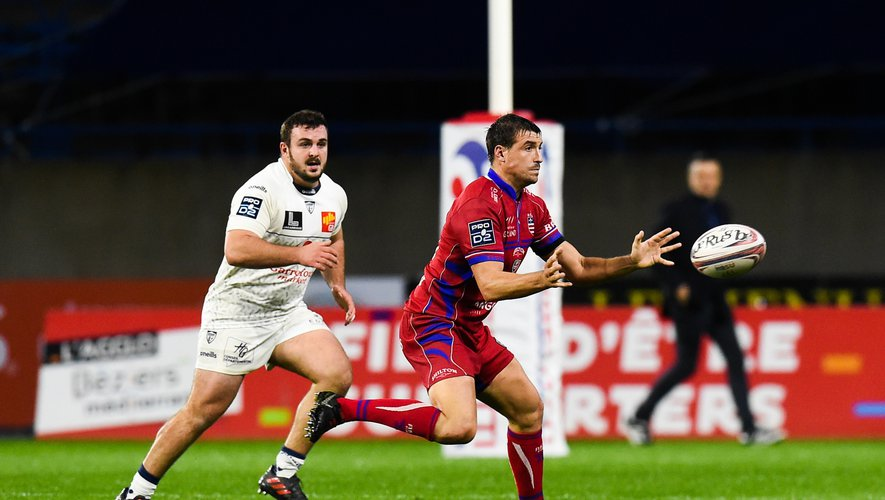 Adrien LATORRE of Beziers  during the Pro D2 match between Beziers and Colomiers on November 1, 2019 in Beziers, France. (Photo by Alexandre Dimou/Icon Sport) - Adrien LATORRE - Stade de la Mediterranee - Béziers (France)