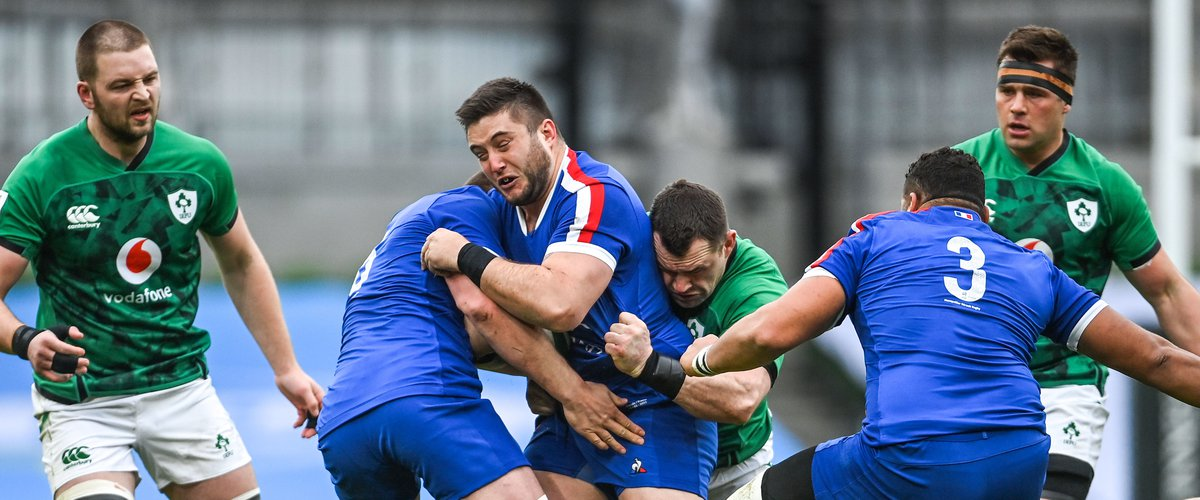 Tournoi des 6 Nations 2021 - Cyril Baille (France) contre l'Irlande