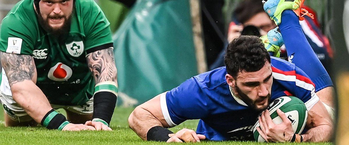 Charles Ollivon a inscrit le premier essai des Bleus face à l'Irlande.