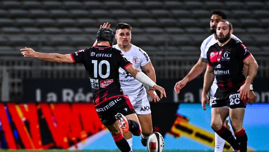 Le Lyonnais Jonathan Wisnieski a inscrit deux drop-goals face aux Toulousains.