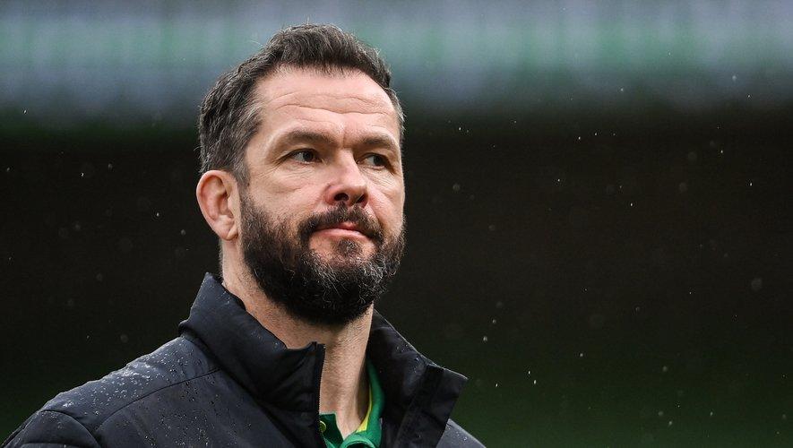 Le sélectionneur de l'Irlande Andy Farrell à l'Aviva Stadium de Dublin