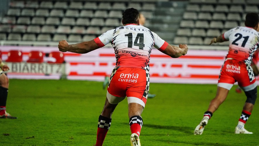 Edward DRATAI SAWAILAU of Valence Romans during the Pro D2 match between Biarritz and Valence at Parc des Sports Aguilera on January 8, 2021 in Biarritz, France. (Photo by Pierre Costabadie/Icon Sport) - Edward DRATAI SAWAILAU - Parc des Sports d'Aguilera - Biarritz (France)