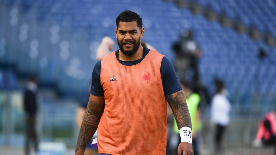 Romain TAOFIFENUA of France during the Six Nations Tournament match between Italy and France at Olimpico stadium on February 6, 2021 in Rome, Italy. (Photo by Anthony Dibon/Icon Sport) - Romain TAOFIFENUA - Stadio Olimpico - Rome (Italie)
