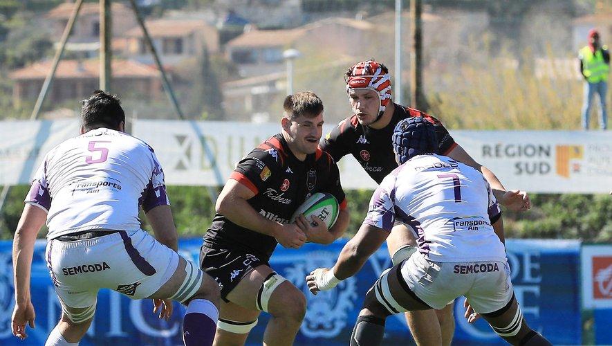 Vainqueurs de Bourg-en-Bresse ce week-end, les Niçois, solides leaders, ont désormais quinze points d'avance sur Massy, le cinquième. Photo MaxPPP