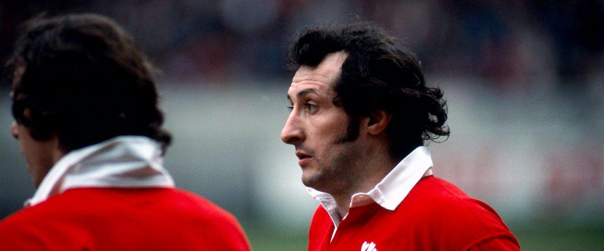 Gareth Edwards lors de France - Pays de Galles en 1977.