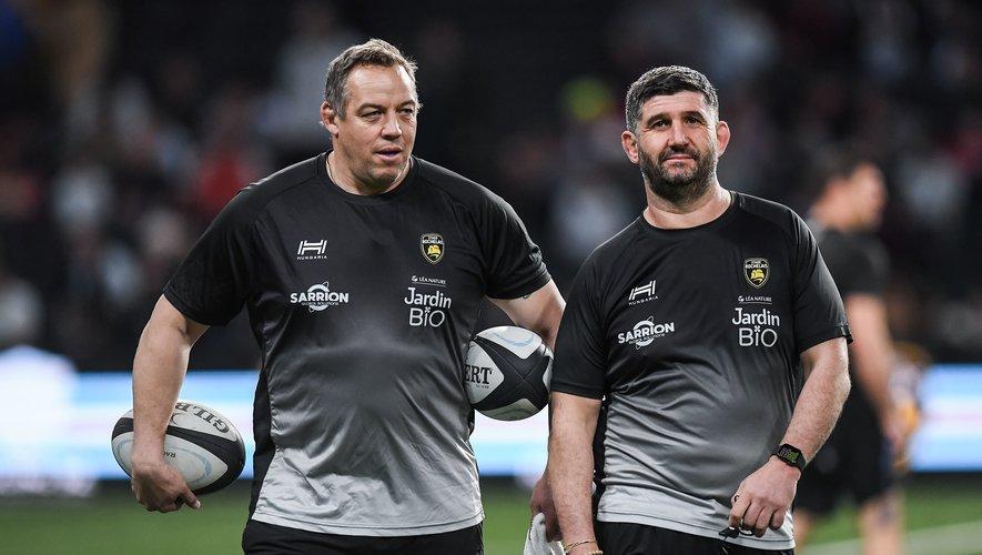 Jono Gibbes et Olivier Magne sont toujours en course pour prendre les rênes de l'ASM et ainsi succéder à Franck Azéma. Photo Icon Sport