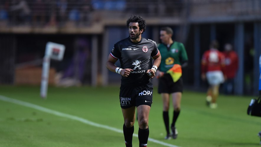 Maxime Mermoz of Toulouse during the Top 14 match between USAP Perpignan and Stade Toulousain on October 27, 2018 in Perpignan, France. (Photo by Alexandre Dimou/Icon Sport)
