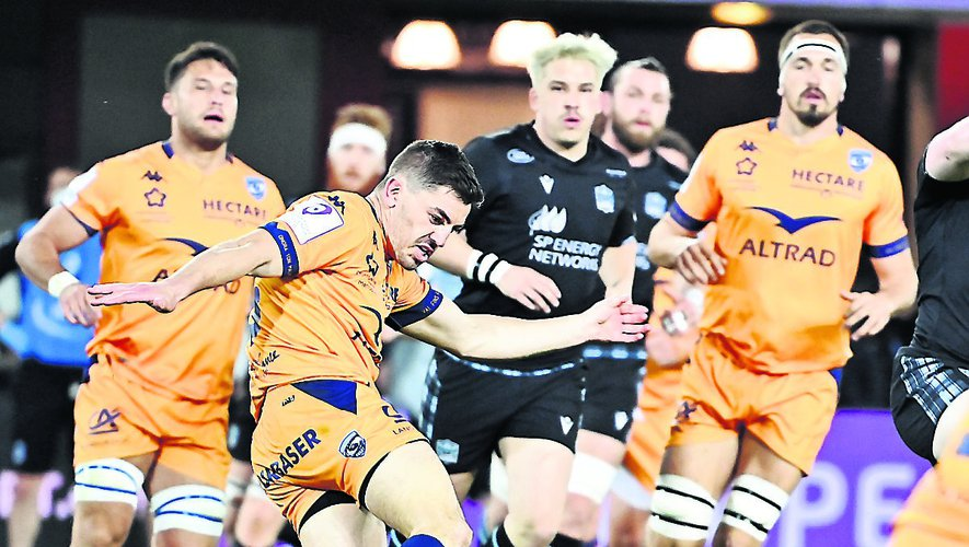 Anthony Bouthier a initié plusieurs belles relances pour son retour face à Glasgow.