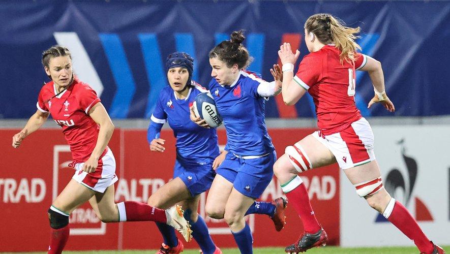 """La centre des Bleues """"Gabi"""" Vernier a réalisé une belle performance face au pays de Galles. Elle espère confirmer face à l'Irlande, le samedi 17 avril prochain. Photo Icon Sport"""