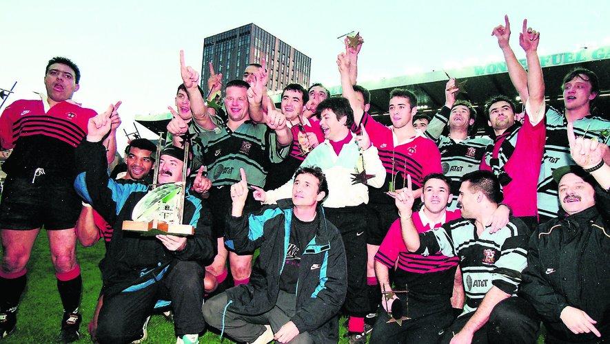 Toulouse, premier vainqueur de la coupe d'Europe en 1996 à Cardiff.