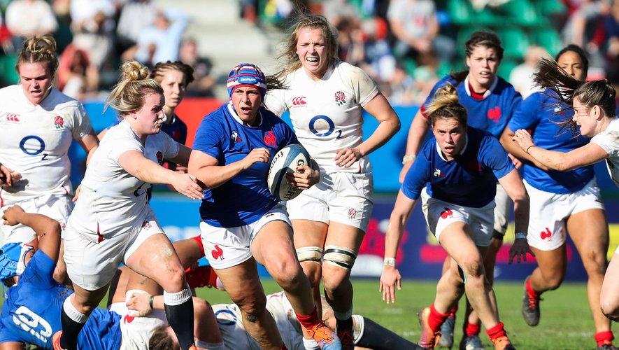 Comme l'an dernier, la talonneuse Caroline Thomas, capitaine dans son club de Romagnat, a l'occasion de se frotter aux Anglaises qui constituent la meilleure nation mondiale. Photo Icon Sport