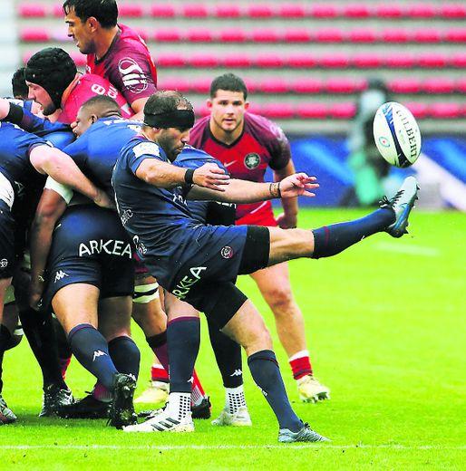 Maxime Lucu (UBB) face à Toulouse.