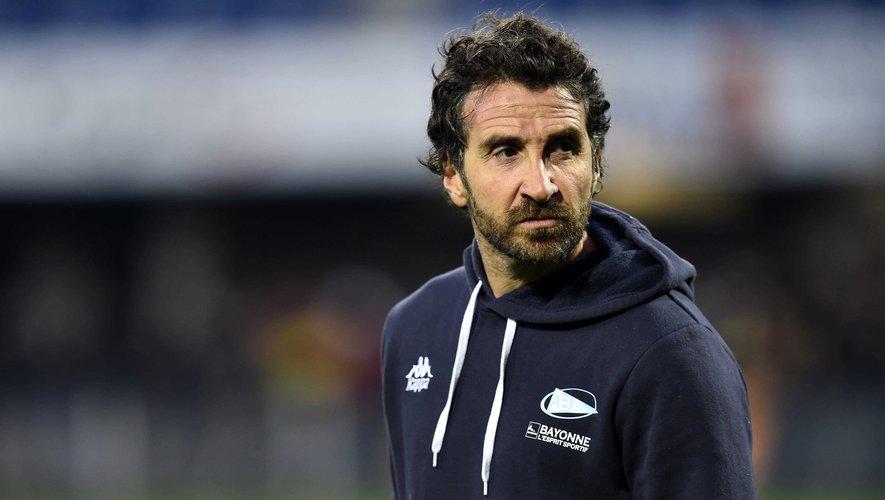 Vincent Etcheto en 2017 entraîneur  de l'Aviron bayonnais. Photo Icon Sport