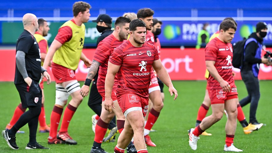 Julien MARCHAND of Toulouse  during the Quarter Final Champions Cup match between Clermont and Toulouse at Parc des Sports Marcel Michelin on April 11, 2021 in Clermont-Ferrand, France. (Photo by Alexandre Dimou/Icon Sport) - Julien MARCHAND - Stade Marcel Michelin - Clermont Ferrand (France)