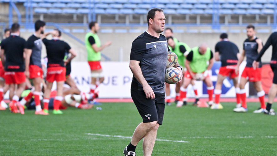 Nicolas NADAU coach  of Biarritz  during the Pro D2 match between Beziers and Biarritz at Stade de la Mediterranée on March 25, 2021 in Beziers, France. (Photo by Alexandre Dimou/Icon Sport) - Nicolas NADAU - Stade de la Mediterranee - Béziers (France)