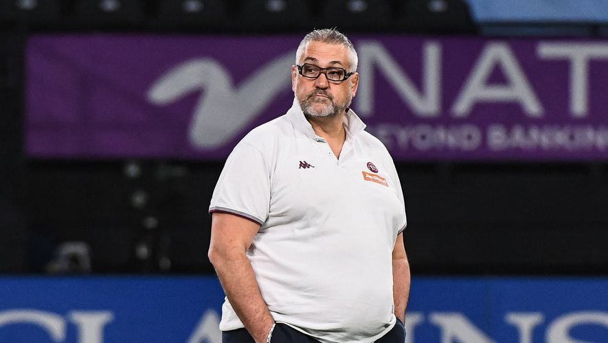 Christophe URIOS head coach of Bordeaux (UBB) ahead of the French Top 14 rugby match between Racing 92 and Bordeaux on January 23, 2021 in Nanterre, France. (Photo by Baptiste Fernandez/Icon Sport) - Christophe URIOS - Paris La Defense Arena - Paris (France)