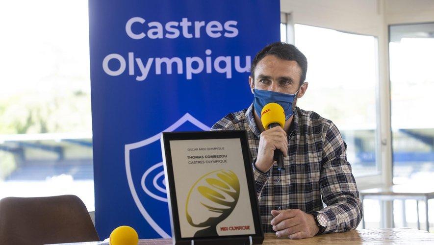 Thomas Combezou, récompensé de l'oscar Midi Olympique.