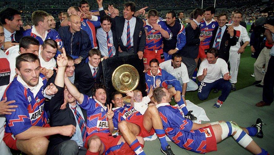 Le Stade Français de Max Guazzini et de Bernard Laporte champions en 1998.