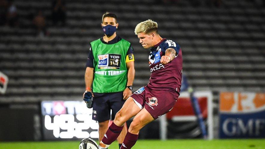 Matthieu Jalibert (Bordeaux-Bègles) contre l'ASM