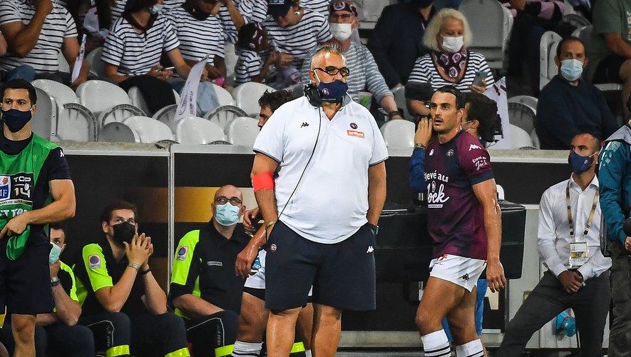 L'entraîneur de l'UBB Christophe Urios, forcément déçu après la défaite de son équipe.