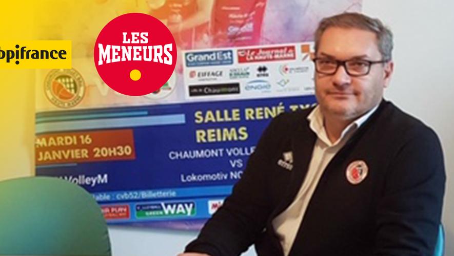 Bruno Soirfeck, président du Chaumont Volley-Ball 52.