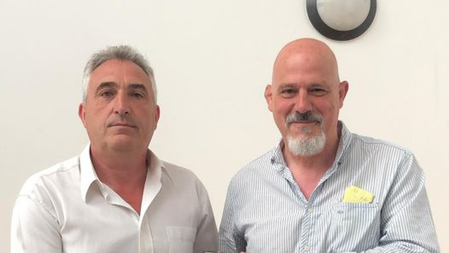 Benjamin Périé (à gauche) a passé la présidence de Drancy à Pascal Dias Pereira (à droite). Malgré deux saisons très difficiles, le nouvel élu portera l'ambition du club d'accéder aux phases finales. Photo DR