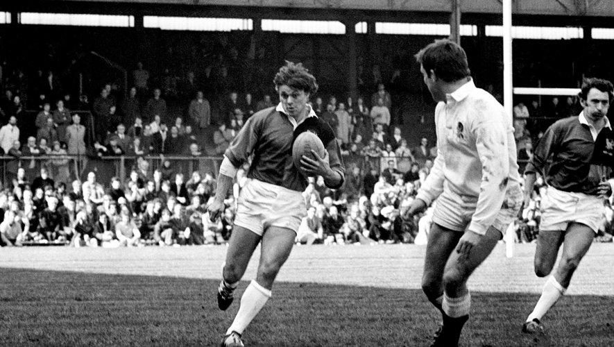 Jo Maso sous le maillot d'une sélection mondiale qui affrontait l'Angleterre en 1971 pour le centenaire de la RFU.