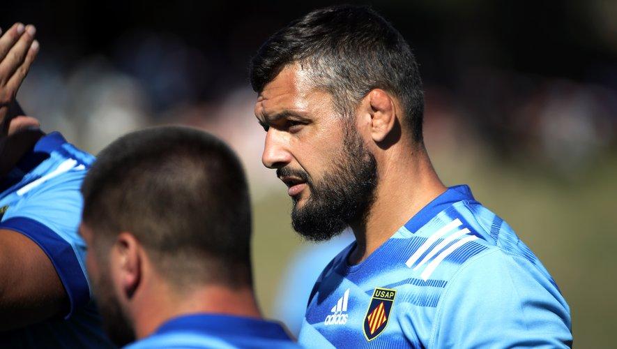 Damien Chouly sous le maillot de Perpignan.