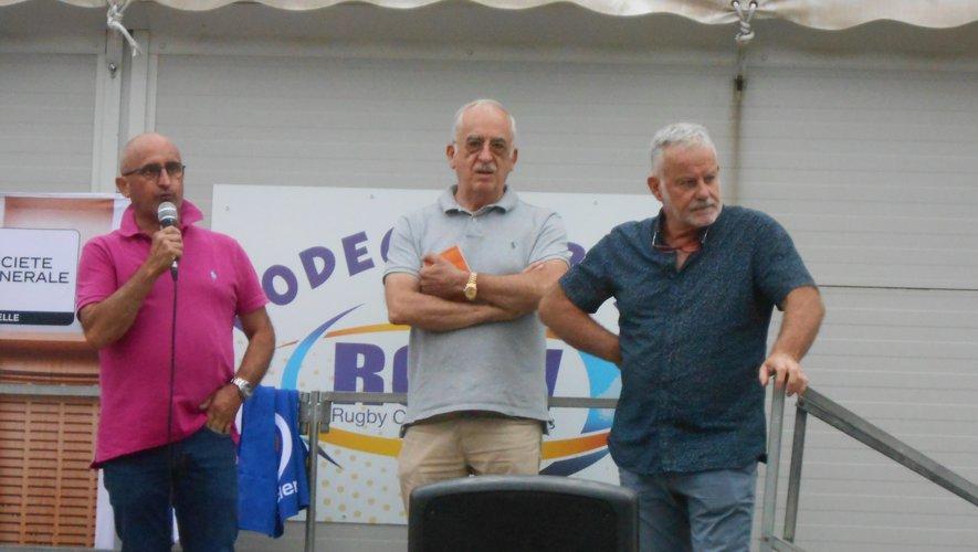 À droite de la photo, Jean-François Roure, vice-président du club d'Aubenas (Nationale)