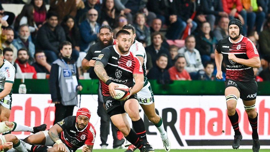 Cyril Baille (Toulouse) contre la Section paloise à Ernest-Wallon.